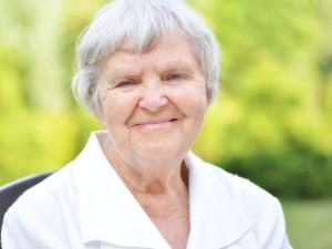 Senior woman in garden.